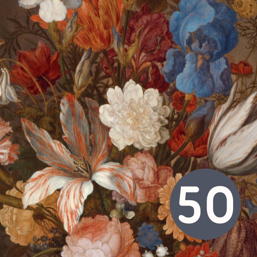 Verjaardagskaarten - Verjaardagskaart met vrolijke bloemen