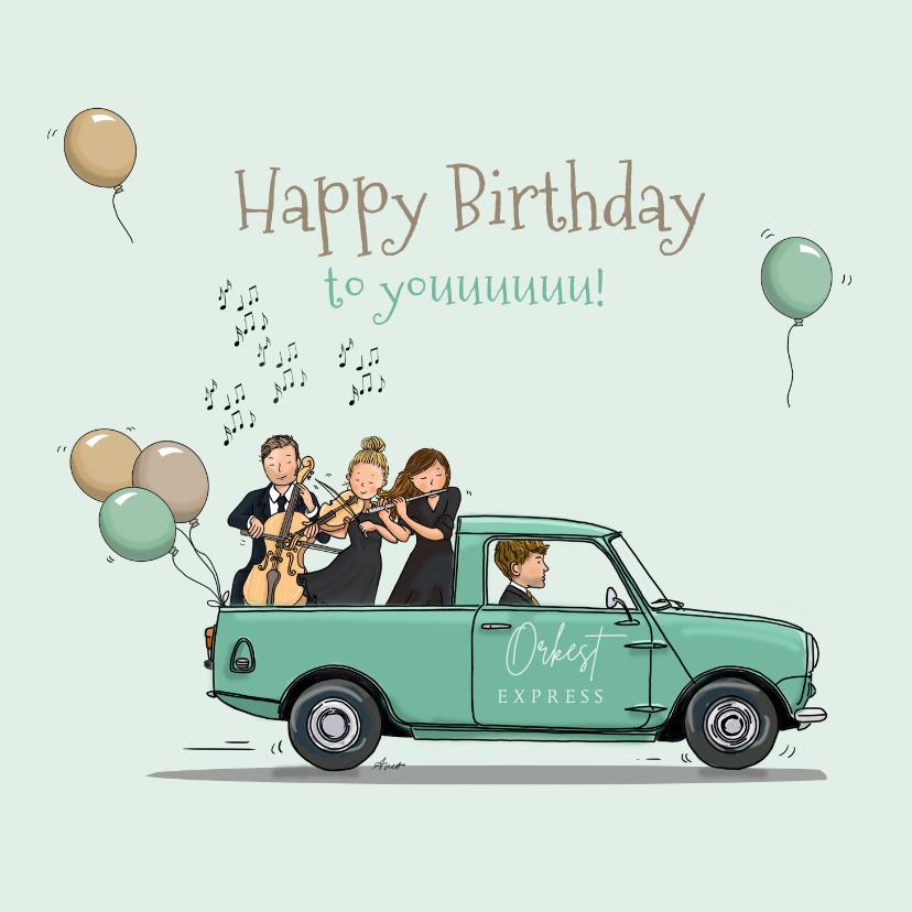 Verjaardagskaarten - Verjaardagskaart Mini pick-up
