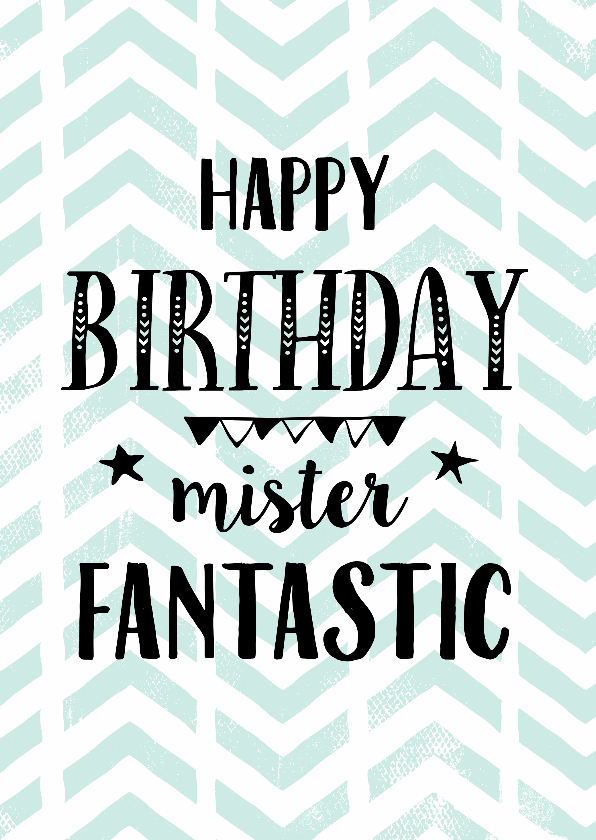 Verjaardagskaarten - Verjaardagskaart Mister Fantastic