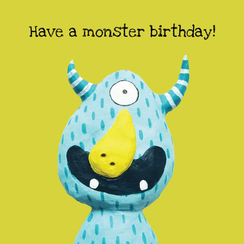 Verjaardagskaarten - Verjaardagskaart monster day