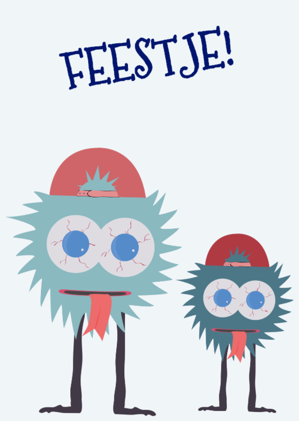 Verjaardagskaarten - Verjaardagskaart MonsterFissa!
