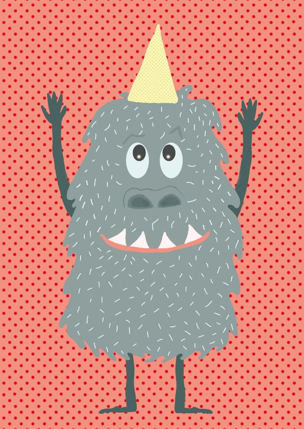 Verjaardagskaarten - Verjaardagskaart Monsterlijk vet