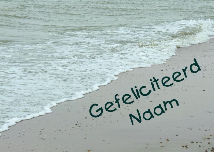 Verjaardagskaarten - Verjaardagskaart naam  het strand
