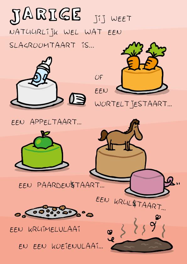 Verjaardagskaarten - Verjaardagskaart Ouwe Taart