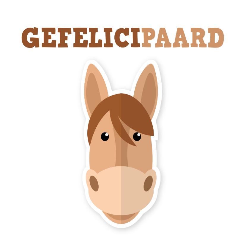 Verjaardagskaarten - Verjaardagskaart paard ME