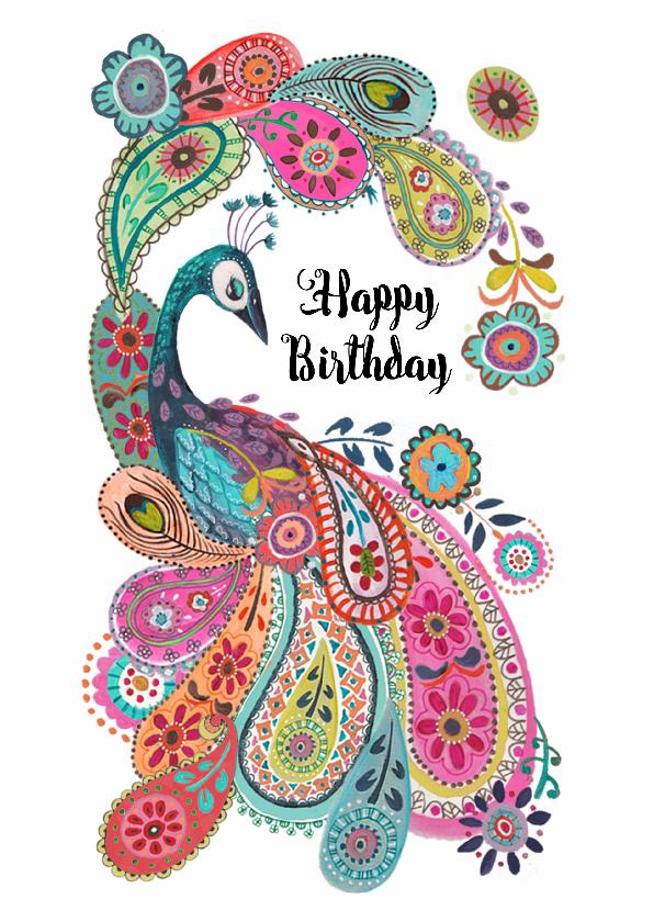 Verjaardagskaarten - Verjaardagskaart Paisley Pauw
