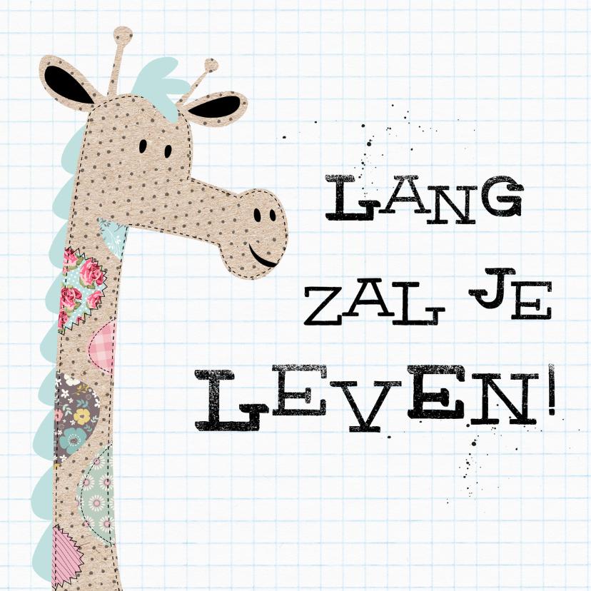 Verjaardagskaarten - Verjaardagskaart Patch Giraf