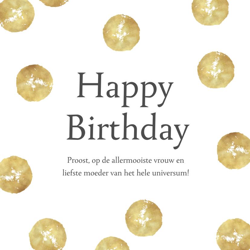 Verjaardagskaarten - Verjaardagskaart persoonlijk confetti happy birthday