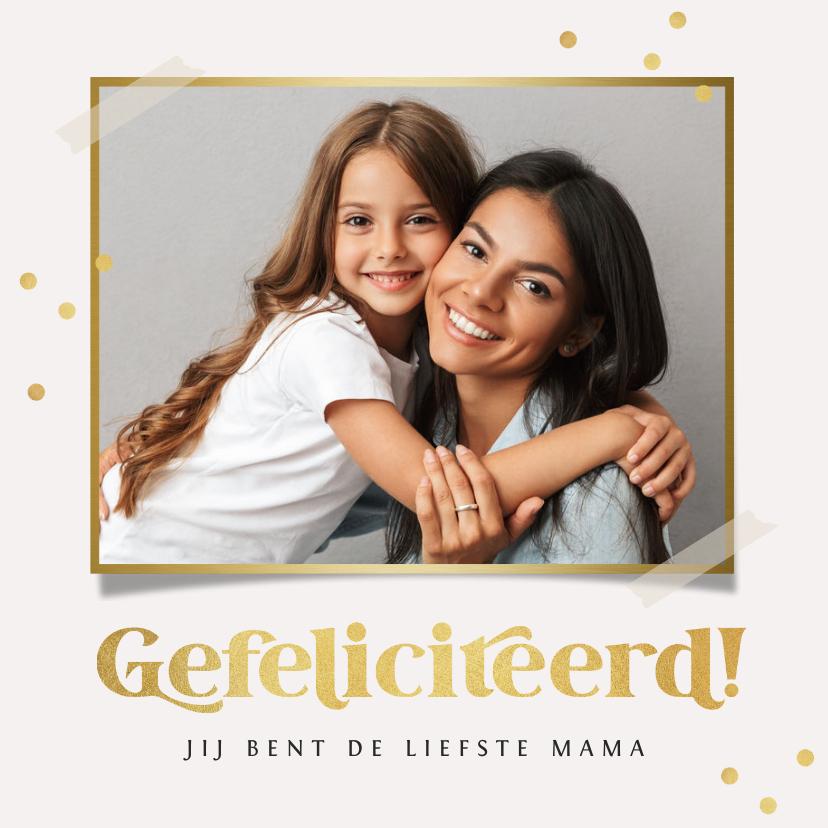 Verjaardagskaarten - Verjaardagskaart persoonlijk goud confetti gefeliciteerd