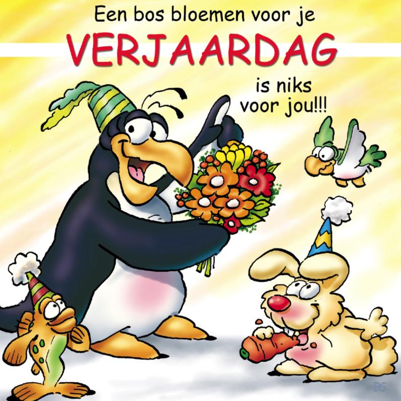 Verjaardagskaarten - Verjaardagskaart pinguins verjaardag
