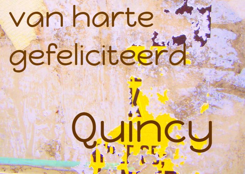 Verjaardagskaarten - Verjaardagskaart Quincy IW