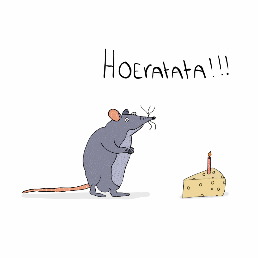 Verjaardagskaarten - Verjaardagskaart Ratata!