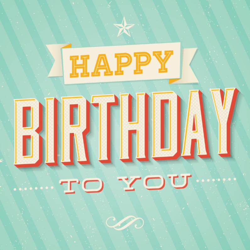Verjaardagskaarten - Verjaardagskaart Retro