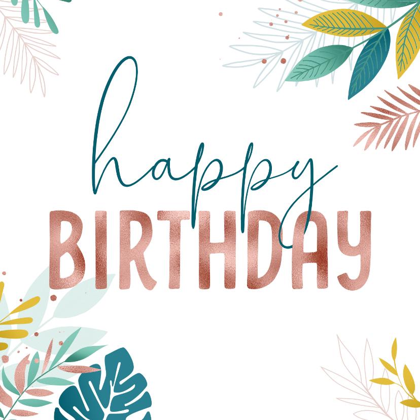 Verjaardagskaarten - Verjaardagskaart rose gold