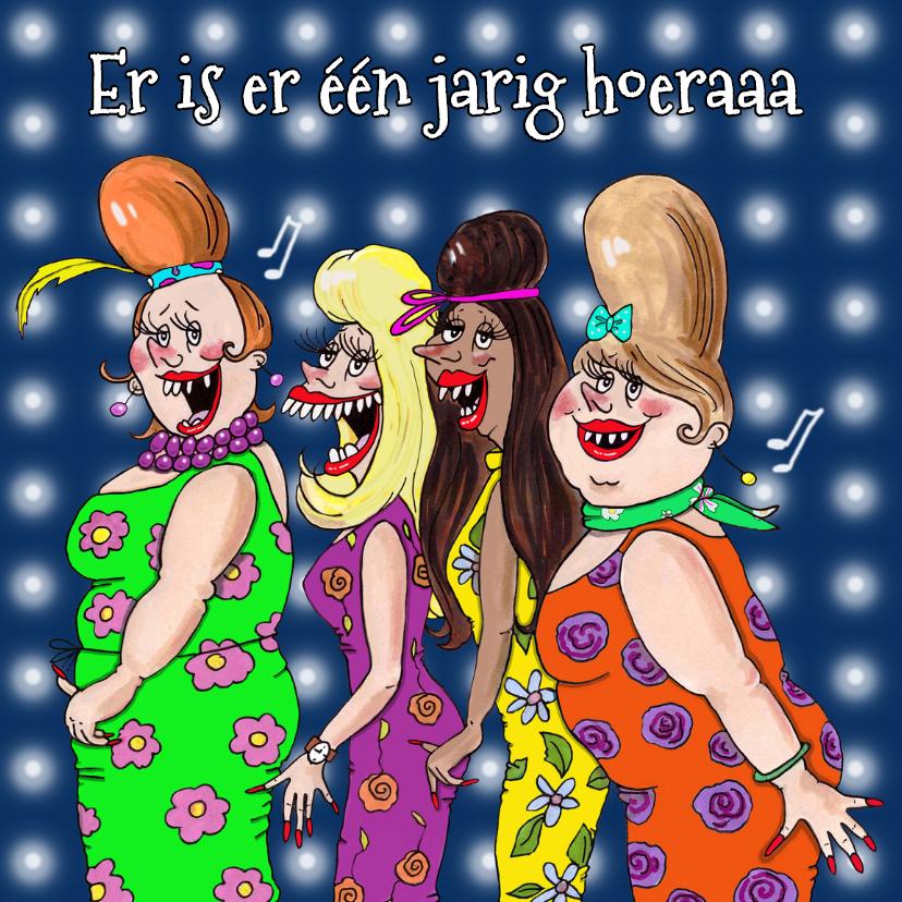 Verjaardagskaarten - Verjaardagskaart Showbizzgirls