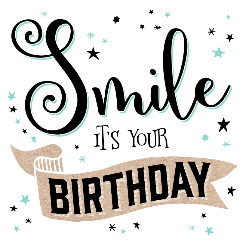 Verjaardagskaarten - Verjaardagskaart Smile - 99