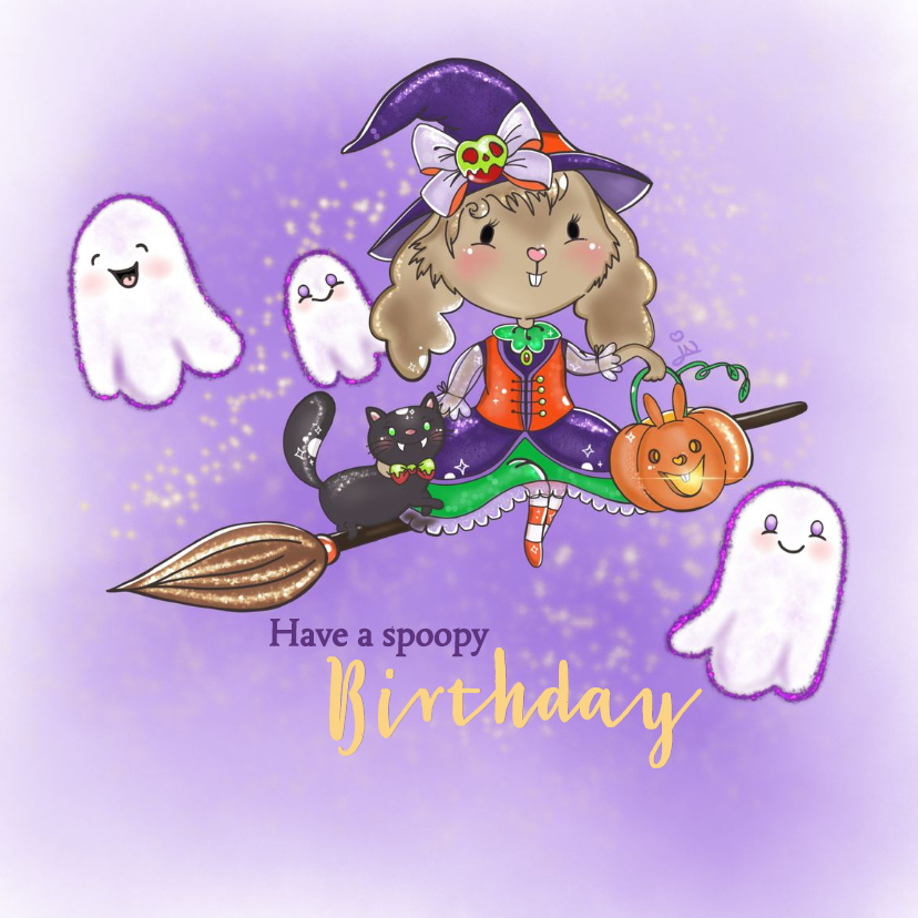 Verjaardagskaarten - Verjaardagskaart Maple and Chestnut Spoopy Birthday
