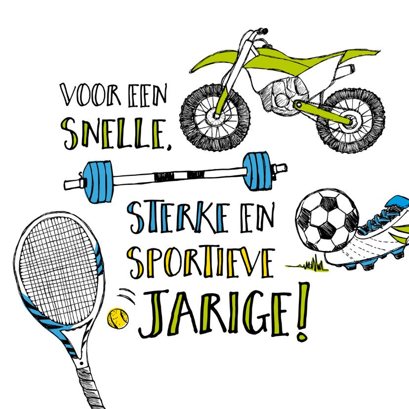 Verjaardagskaarten - Verjaardagskaart sportief