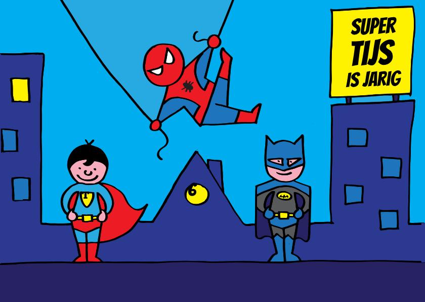 Verjaardagskaarten - Verjaardagskaart superhelden