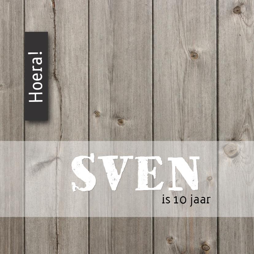 Verjaardagskaarten - Verjaardagskaart Sven LS