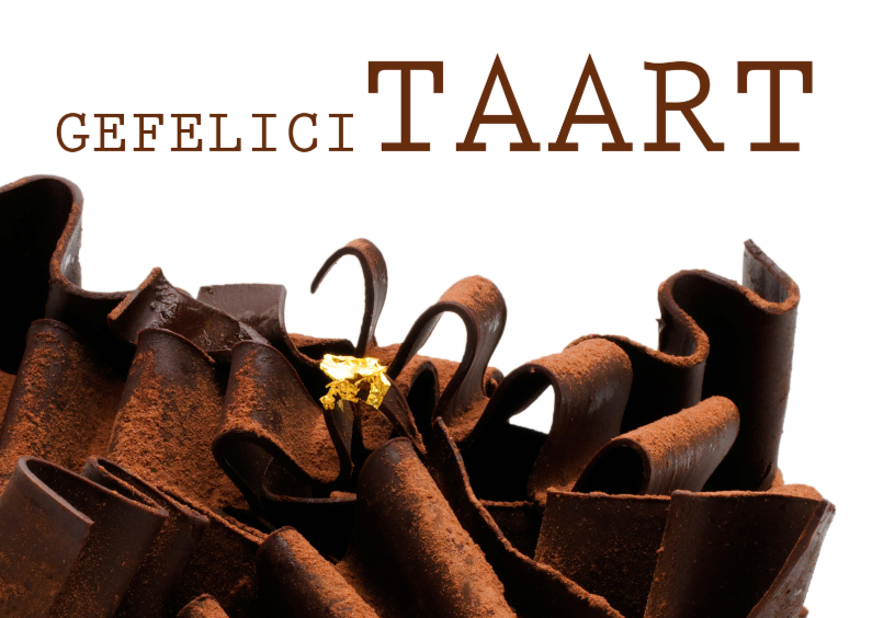 Verjaardagskaarten - Verjaardagskaart Taart Chocolade
