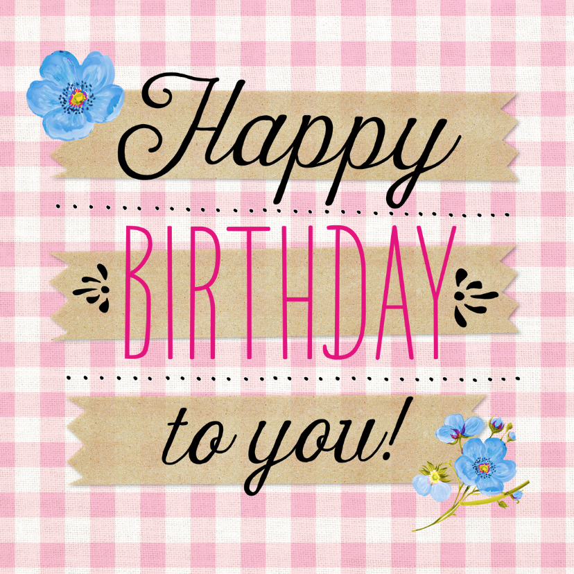 Verjaardagskaarten - Verjaardagskaart Tartan