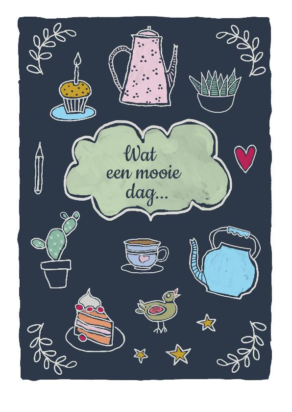 Verjaardagskaarten - Verjaardagskaart - Tea time birthday