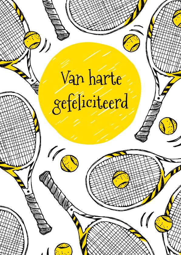 Verjaardagskaart Tennisrackets Kaartje2go