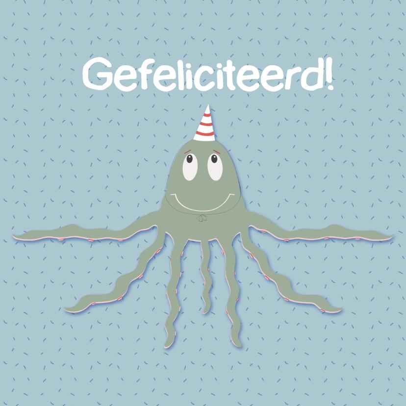 Verjaardagskaarten - Verjaardagskaart tentakeltje