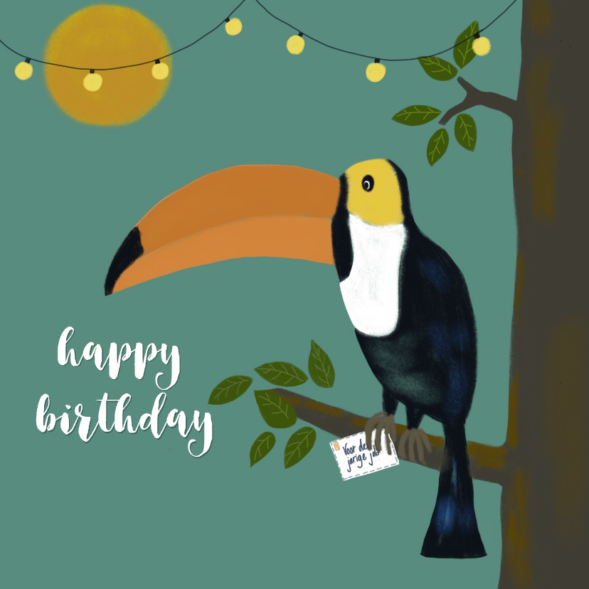 Verjaardagskaarten - Verjaardagskaart Toekan