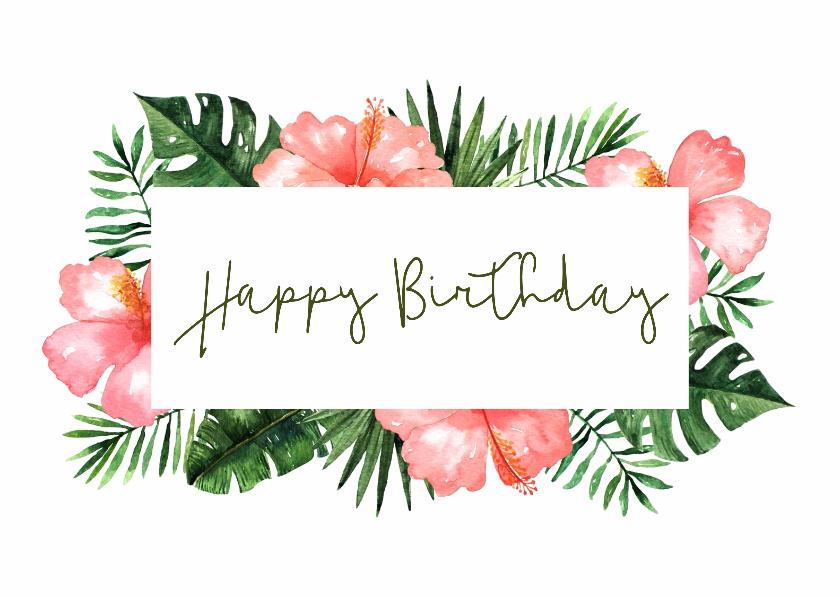 Verjaardagskaarten - Verjaardagskaart Tropical - WW