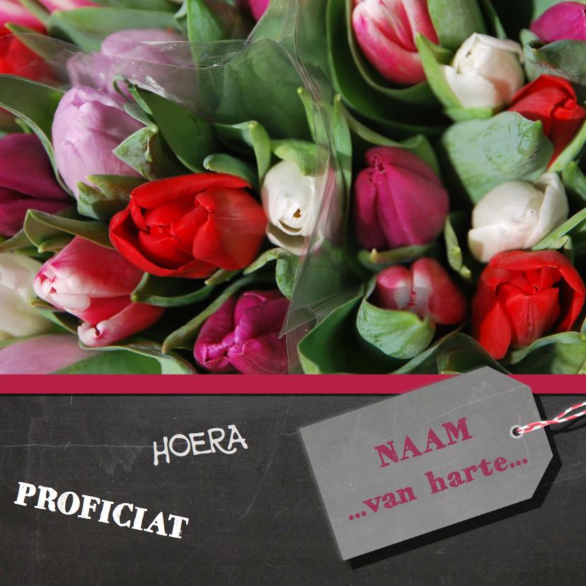 Verjaardagskaarten - Verjaardagskaart tulpen rood