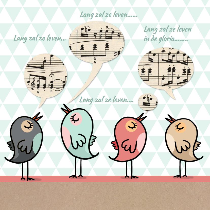 Verjaardagskaarten - Verjaardagskaart vogels av