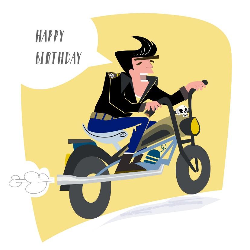 Verjaardagskaarten - Verjaardagskaart voor de echte rockabilly.