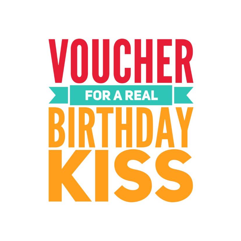 Verjaardagskaarten - verjaardagskaart voucher -LB