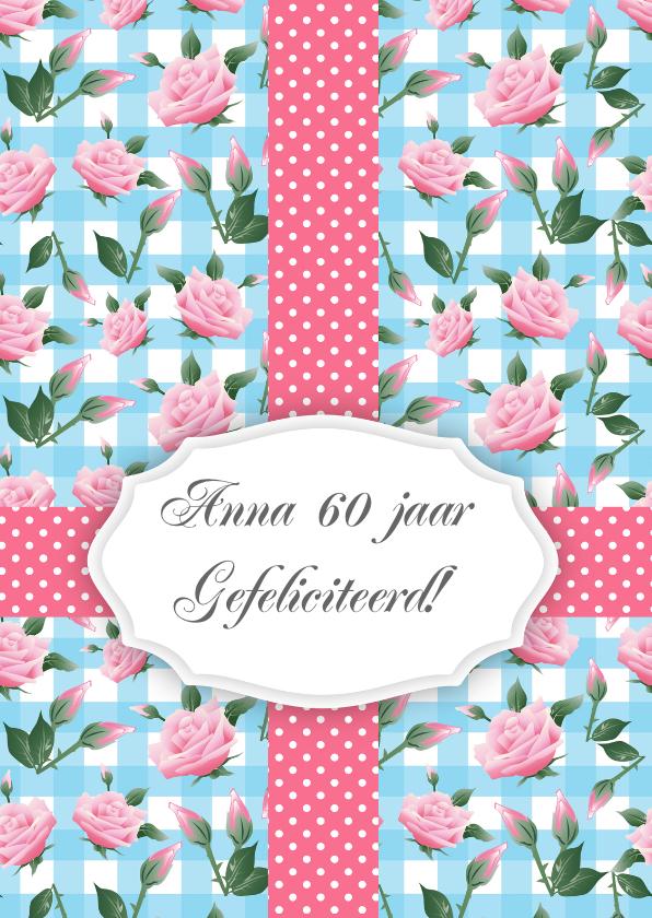 Verjaardagskaarten - Verjaardagskaart vrouw rozen