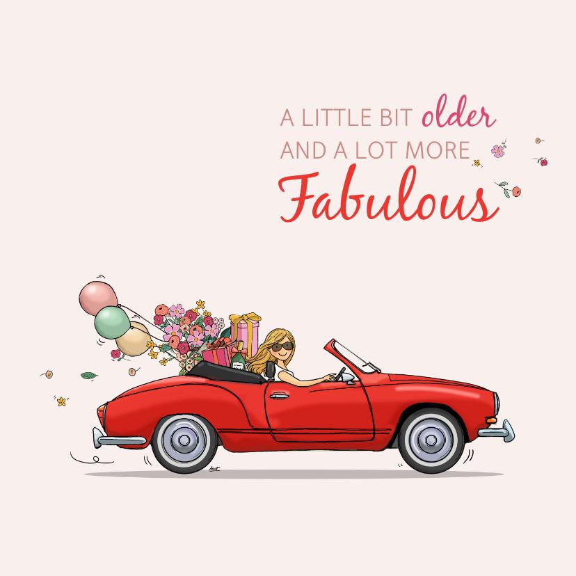 Verjaardagskaarten - Verjaardagskaart VW Karmann Gia cabrio
