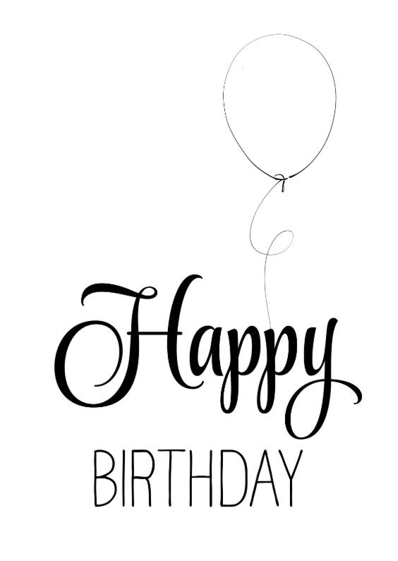 Verjaardagskaarten - Verjaardagskaart ZwartWit - SG