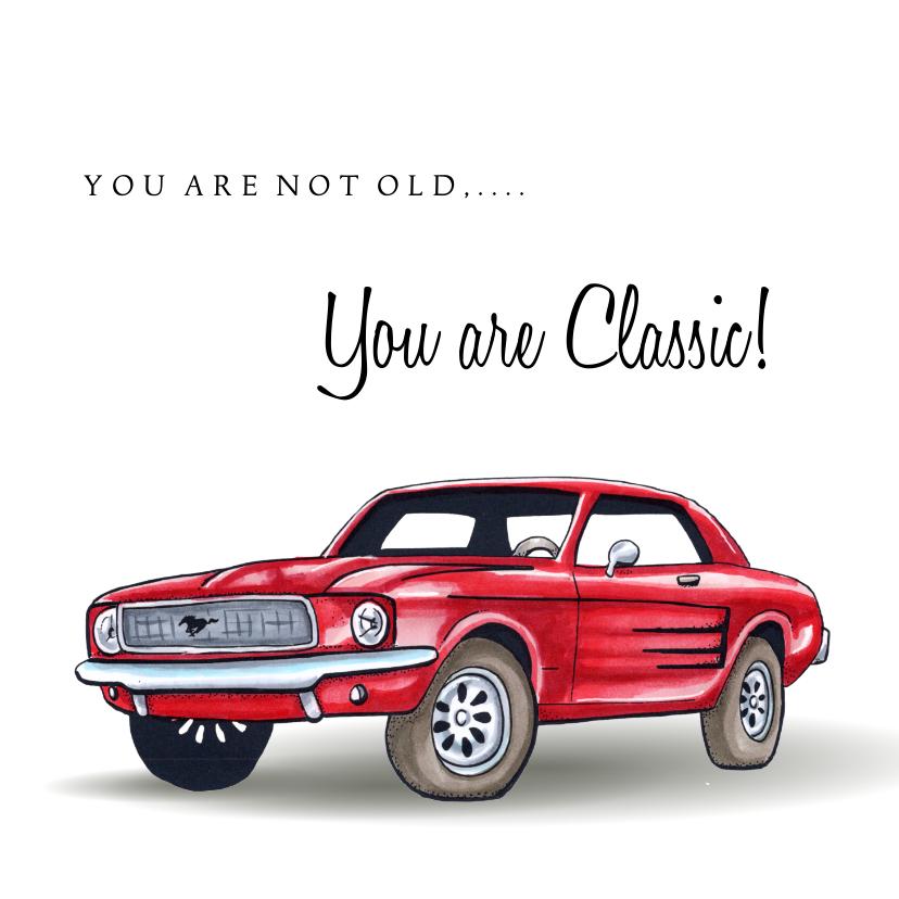 Verjaardagskaarten - Verjaardagskaarten Classic Mustang 2
