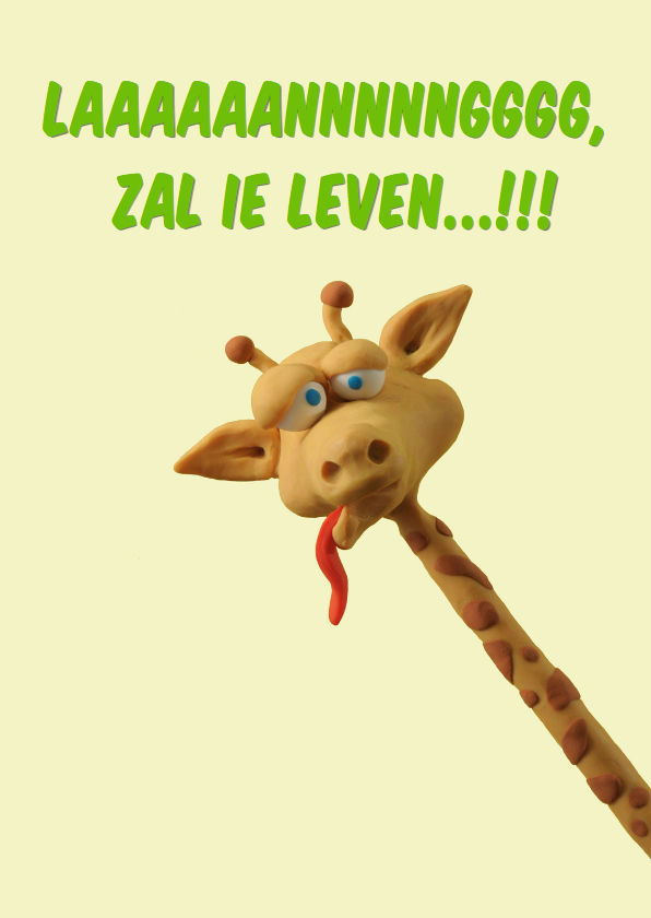 Verjaardagskaarten - Verjaarsdag Giraffe