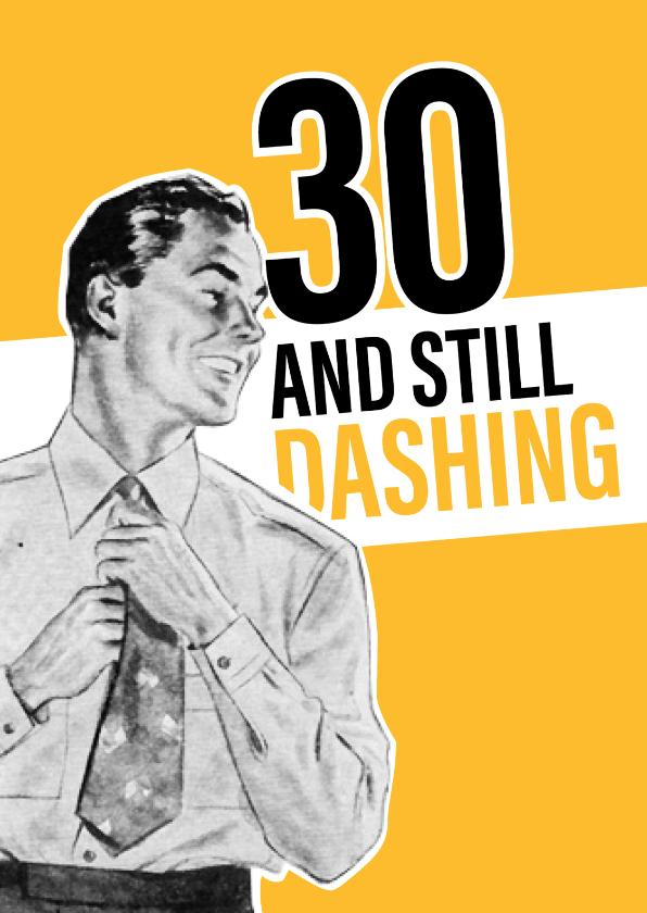 Verjaardagskaarten - Vintage man 30