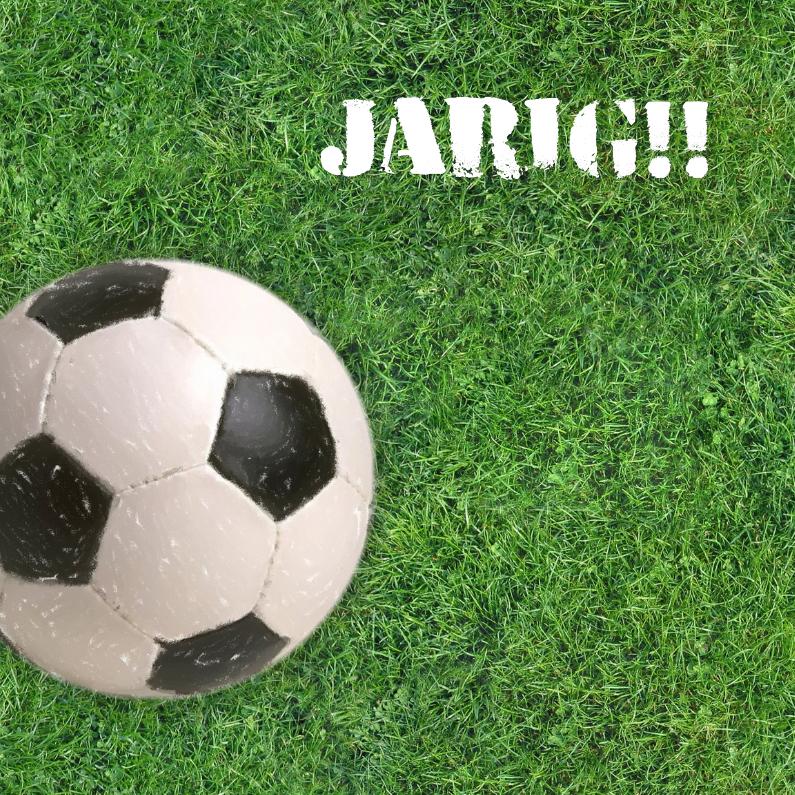 Verjaardagskaarten - Voetbal in gras