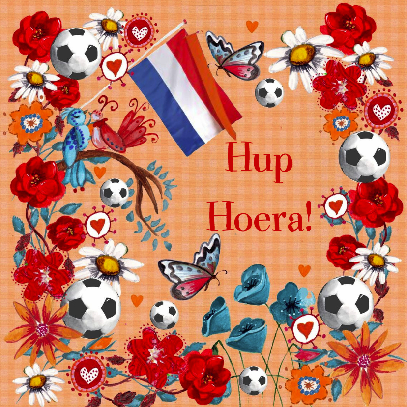 Verjaardagskaarten - Voetbal Verjaardag Oranje Cartita Design