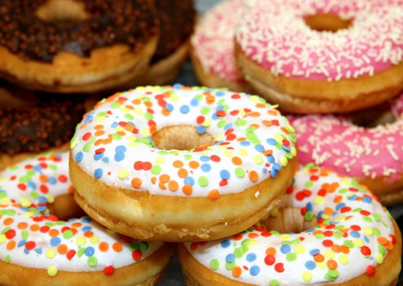 Verjaardagskaarten - Vrolijke Donuts met stippen - OT