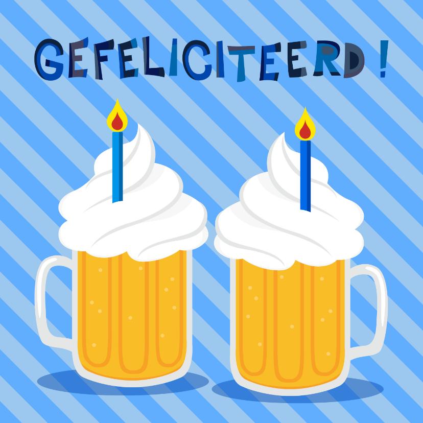 Verjaardagskaarten - Vrolijke en grappige verjaardagskaart met bier