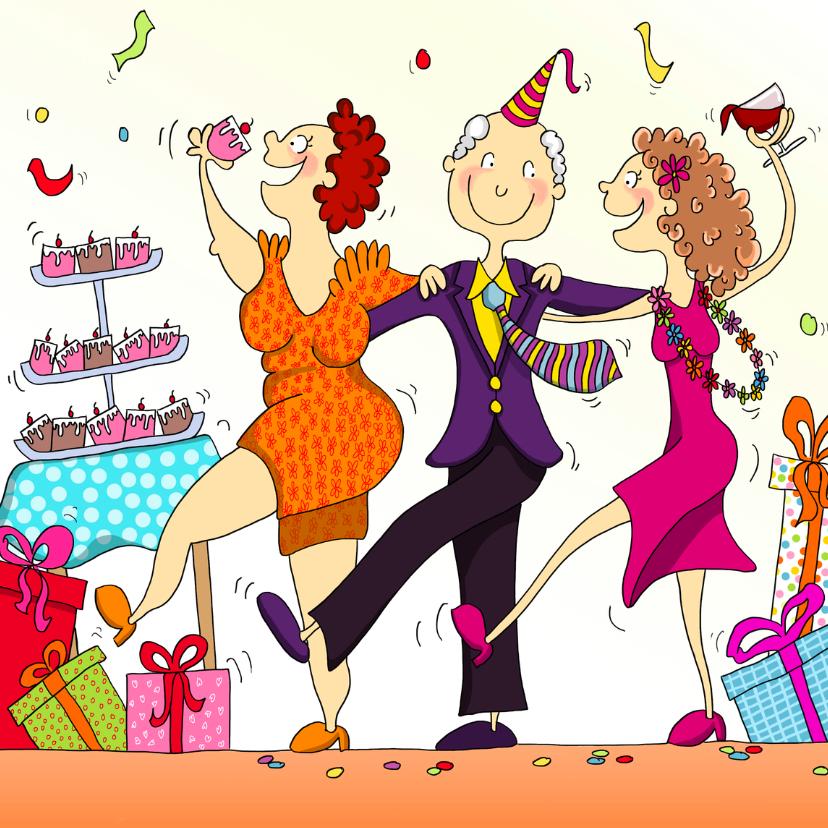 Verjaardagskaarten - Vrolijke verjaardagskaart illustratie