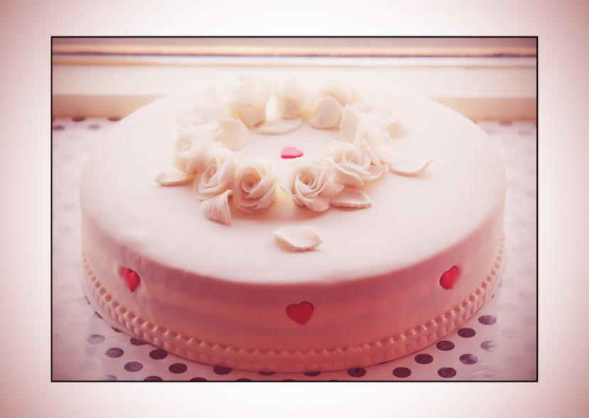 Verjaardagskaarten - White cake