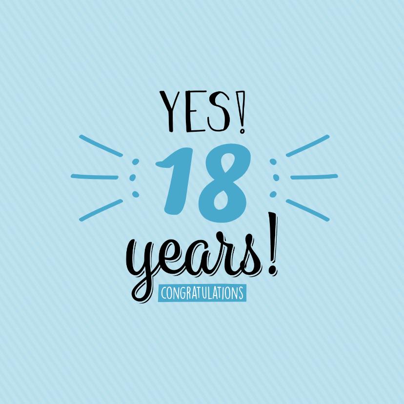 Verjaardagskaarten - Yes... years! Leeftijd is aanpasbaar -felicitatiekaart