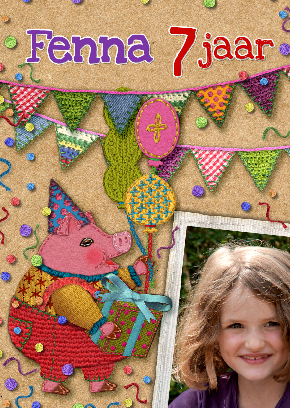 Verjaardagskaarten - YVON verjaardag dieren vlaggen
