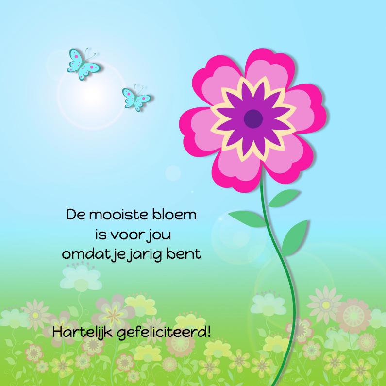 Verjaardagskaarten - Zeg het met bloemen en vlinders